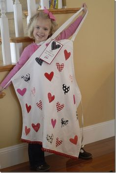 apron for teacher- sew a heart for each child in class...child signs name next to heart