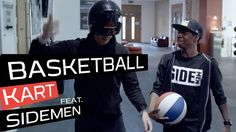Pepsi Max challenge Miniminter and TBJZL of 'The Sidemen' to a series of Genius Sports Mash-ups. Episode one: Basketball Kart, combining the speed of go-karting and the precision of basketball. Simon and Tobi each pair up with a skilled basketball player to race around the track, whilst scoring as many high-speed baskets as possible. Each basket scored gets 3 points and each point takes a second off your final time; the team with the quickest time wins! Who will win the first challenge?