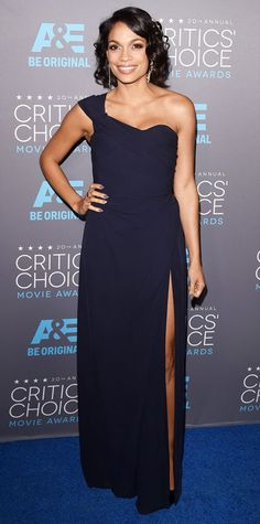 2015 Critics' Choice Movie Awards: Red Carpet Arrivals - Rosario Dawson in Vivienne Westwood from #InStyle