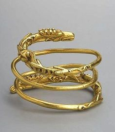 Bracelet 1st century B.C. Gold Lower Volga. Volgograd Region, Proleisky District, Village of Verkhneye Pogromnoye Burial site. Barrow No. 2, Burial No. 2