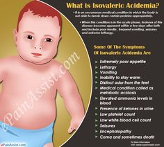 Isovaleric Acidemia develops when an enzyme called isovaleryl-CoA dehydrogenase is either malfunctioning or is absent. One should consume specially formulated diet which is low in leucine. Metabolic Disorders, Seizures, Metabolism, Medical, Medicine, Med School, Active Ingredient