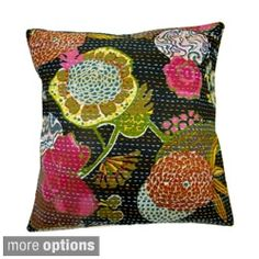 Shop for Ethnic Kantha Work Pillow Cover (India). Free Shipping on orders over $45 at Overstock.com - Your Online Home Decor Store! Get 5% in rewards with Club O!