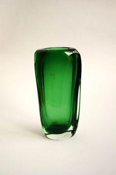 Mid Century Designer Czech Glass Vase by ViscountVintage on Etsy, €75.00
