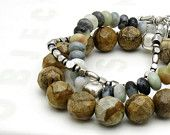Jasper Sterling Silver Bracelet - Canyon:  Organic Woodland Rustic / Wood Inspired