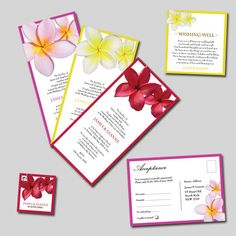 Frangipani Wedding Invitations & Stationery