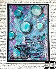 Gelli printed background Night, Artwork, Projects, Prints, Log Projects, Work Of Art, Blue Prints, Auguste Rodin Artwork, Artworks