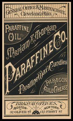 Meriam & Morgan Paraffine Company | Sheaff : ephemera