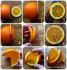 How to make a fancy double orange twist garnish                                                                                                                                                                                 More