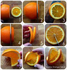 How to make a fancy double orange twist garnish