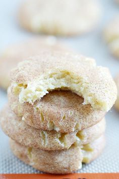 Thick and chewy snickerdoodles are so easy to make from scratch! These are warm and fresh from the oven in less than 25 minutes.