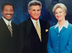 KOMO News anchors Dan Lewis (center), Kathi Goertzen (right), and weather forecaster Steve Pool (left) had the third longest-running tenure out of any anchor team in the United States, having anchored KOMO News in Seattle together from 1987 through 2008.
