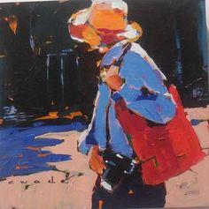 Carole Wade - The Tourist (12x12) $475