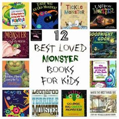 12 Best Loved Monster Books for Kids (from Mom to 2 Posh Lil Divas)