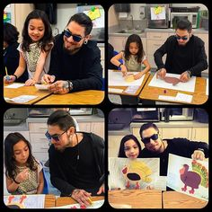 """Special friend"" day at the school. Thanks for inviting me Lola I had the BEST time! Via Instagram @davenavarro"