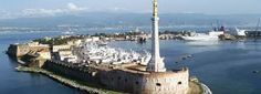 Sicily-Messina port and car ferry to mainland Italy