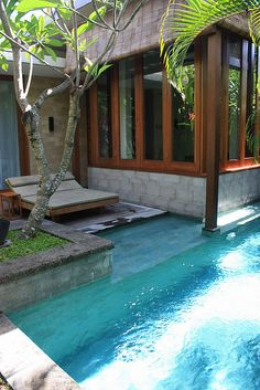 Our enclave at The Elysian in Seminyak. Amazing place to spend our wedding anniversary. #holiday #bali #pool
