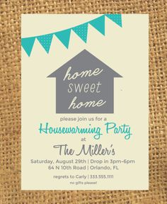 Housewarming Invitation by CarlysCustoms on @creativemarket