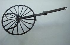 "18th Century Hand Wrought Iron Revolving Top Hearth Broiler Grill 26"" long"