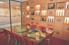 FSG Africa Captain Morgan Boardroom Beautifully branded and styled with antique bottles which are over 150 years old