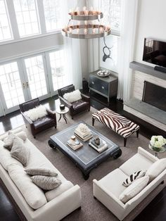 #livingroom  interior design, sofas, flooring, ceiling, lighting, rugs, coffee tables, art in the living room #decorating loft wallpaper