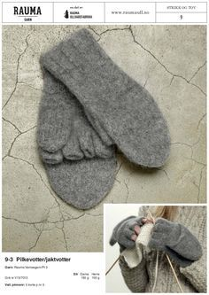 Yarn Inspiration, Knitted Gloves, Drops Design, Couture, Hand Warmers, Mittens, Ravelry, Knitting Patterns, Diy And Crafts