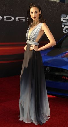 "Gal Gadot at the premiere of ""Fast and Furious 6"" in Universal City, California, May 21, 2013... flawless."
