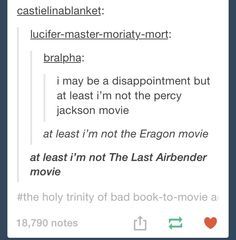 """All of those movies were abominations (and let's not forget DragonBall Z's """"movie"""") but seriously now, Last Airbender takes the cake."""