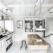 Rustic And White Kitchen Inspiration Design Love The Plank Wood Bare