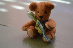 Miniature bear dollhouse teddy bear tiny by EclecticWandering