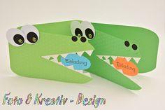 Tolle Einladung Für Den Nächsten Kindergeburtstag. Hergestellt Aus  Geprägtem Kartenkarton, Strukturpapier,, 3 D Pads Und Halbperlen.
