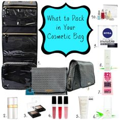Suitcase Packing, Travel Packing, Packing Tips, Traveling Tips, What To Pack, Shower Gel, Makeup Yourself, Cosmetic Bag, How To Plan