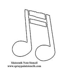 Music note Music Notes, Art Tutorials, Decoupage, Symbols, Letters, Templates, Crafty, Gum Paste, Dessert Ideas