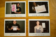 An Evening of Letterpress: Polaroids of the attendees.