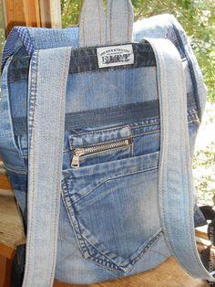 """Купить Рюкзак """"Ерёма """" - синий, рюкзак, мужской подарок, джинса, джинсовый рюкзак, сказка"""