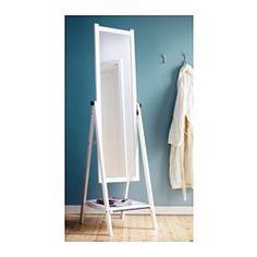 ISFJORDEN Standing mirror - white stain - IKEA