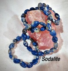 SODALITE : DEVELOPS COMMUNICATION SKILLS  - Conveys Direction and Purpose. - Imbibes the qualities of idealism and truth. - Improves the power of mind over body - Encourages intellectual & rational thought.  - Helps to verbalize thoughts and calm the mind. - Removes fear and guilt and brings inner peace. - Connects the logical with the spiritual.  - Releases useless behavior patterns that no longer serve a purpose.  - Helps in developing creativity and boosting mental capabilities. - Brings…
