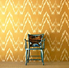 Our favorite Wallpaper and Fabric combination from Gaston y Daniela at Aaron Stewart Home