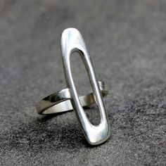 Sterling Silver Ring  Modern Sterling Silver Ring Mod by lsueszabo, $165.00
