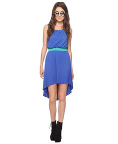 Contrast High-Low Dress | FOREVER21 - 2000039580