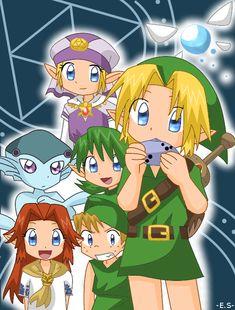 Link & Friends  - the legend of zelda Fan Art