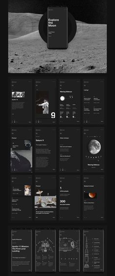 Explore the Moon Project: Web Design + Cinema 4D | HeyDesign Graphic Design & Typography Inspiration