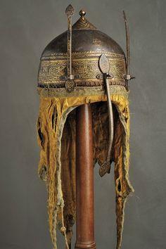 *TURKEY ~ A rare high quality Neo-Mamluk Khula-Khud, provenance: Ottoman Empire dating: Century Helmet Armor, Arm Armor, Islamic World, Islamic Art, Ottoman Turks, Turkish Art, Historical Art, Ottoman Empire, Ancient Artifacts