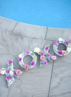 DIY Floating Pool Flower Letters