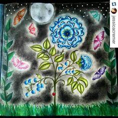By @jessicacremer #jardimsecreto #secretgarden #johannabasford #desenhoscolorir #boracolorirtop #colorindolivrostop