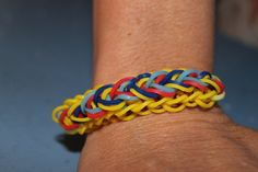 Autism Awareness Rainbow Loom Bracelet by GlittabombFeFe on Etsy