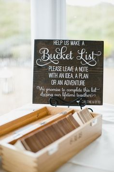 Wedding guest book, guest book ideas, unique wedding ideas, wedding day bucket list games for guests Wedding Signs Irish Wedding, Wedding Book, Fall Wedding, Dream Wedding, Wedding Guest Games, Wedding Guest Activities, Wedding Fun, Wedding Ideas Unique Different, Polaroid Wedding Guest Book