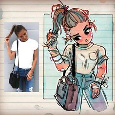 character art Illustrator Turns Strangers Into Manga-Like Characters, And The Result Is Pretty Awesome Amazing Drawings, Cute Drawings, Amazing Art, Awesome, Robert Dejesus, Persona Anime, Doodle Drawing, Drawing Artist, Manga Artist