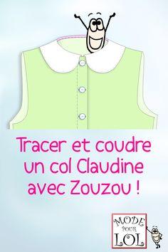 Découvrez comment réaliser un col Claudine impeccable ! #colclaudine #tutocouture #tutopatron #techniqued'assemblage #techniquedecouture #coudreuncol #techniquecol