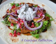 Ras el Hanout Chicken Wrap with Yoghurt Sauce - A Cookbook Collection  From Sabrina Ghayour's Persiana