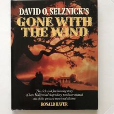 David O. Selznick's Gone with the Wind by Ronald Haver Hardcover) for sale online David O Selznick, Clark Gable, Gone With The Wind, Great Movies, Old Hollywood, Den, Buffalo, Dutch, Book